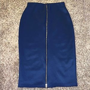 Hot Gal zipper pencil skirt
